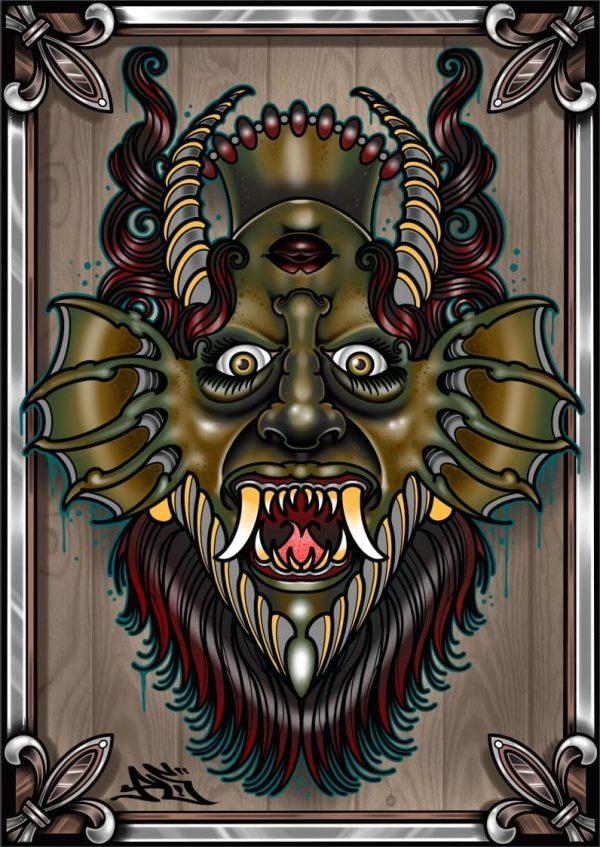 Demon Mask by Pete Sokura